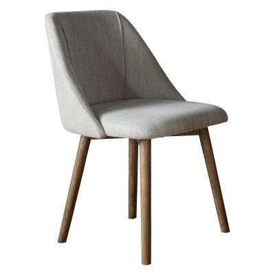 Emilia Fabric Dining Chair, Set of 2, Oatmeal