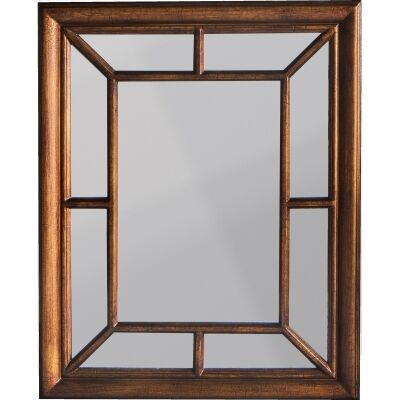 Chisholm Wooden Frame Wall Mirror, 87cm, Bronze