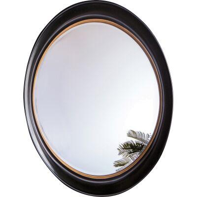 Firth Oval Wall Mirror, 100cm, Black