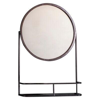 Eve Iron Frame Wall Mirror, Round, 63cm