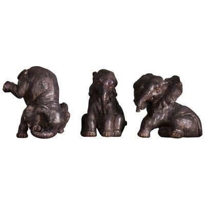 Binita Elephant Trio Scupture Set