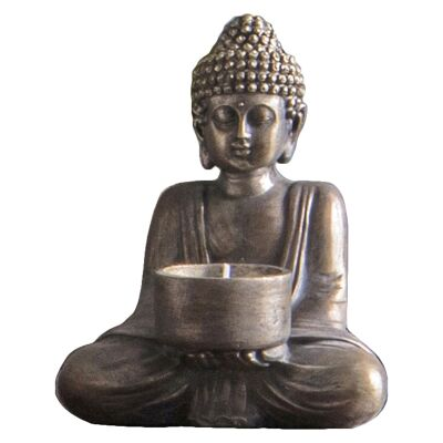 Karu Buddha Tealight Holder, Set of 2