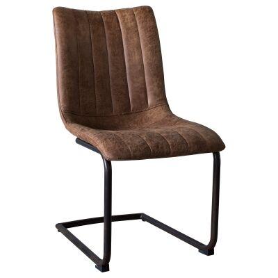 Edington Faux Leather Dining Chair, Tan