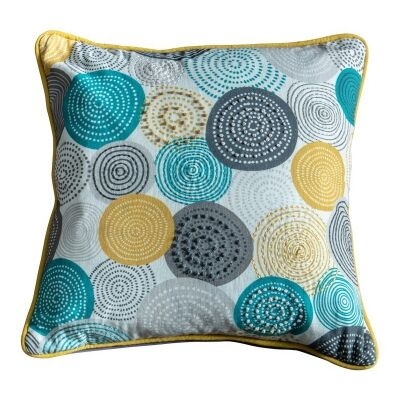 OliverCotton Scatter Cushion, Teal / Ochre