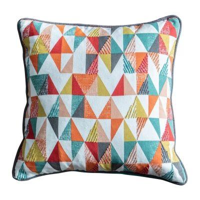 Seren Triangle Cotton Scatter Cushion, Multi