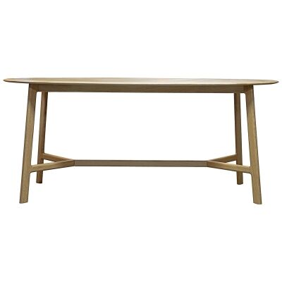 Marrero Oak Timber Oval Dining Table, 180cm