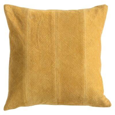 Cyra Cotton Velvet Scatter Cushion, Ochre