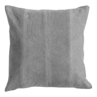 Cyra Cotton Velvet Scatter Cushion, Grey