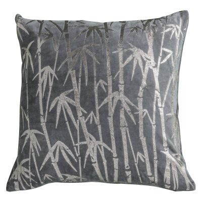 Challeigh Bamboo Metallic Printed Cotton Scatter Cushion
