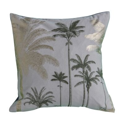Palm Cove Metallic Printed Cotton Scatter Cushion