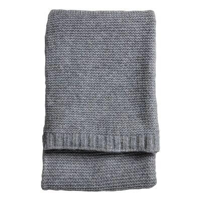 Rona Knitted Wool Throw, 170x130cm