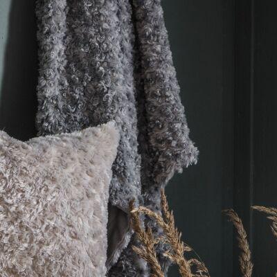 Walon Faux Fur Throw, 170x130cm, Grey