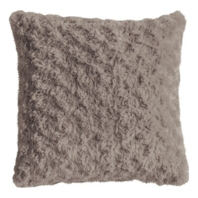 Walon Faux Fur Scatter Cushion, Taupe