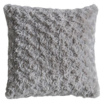 Walon Faux Fur Scatter Cushion, Grey