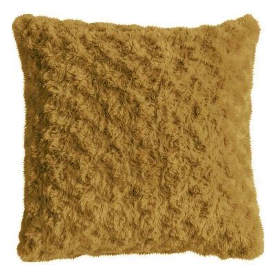 Walon Faux Fur Scatter Cushion, Ochre