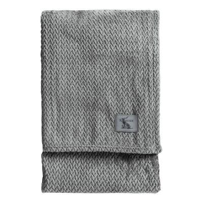 Kilburn & Scott Chevron Flannel Fleece Throw, 180x140cm, Grey