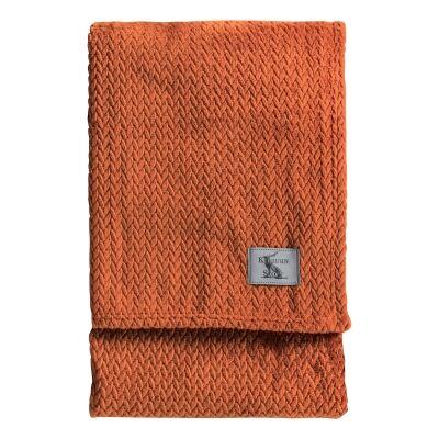 Kilburn & Scott Chevron Flannel Fleece Throw, 180x140cm, Chilli