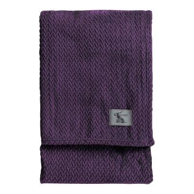 Kilburn & Scott Chevron Flannel Fleece Throw, 180x140cm, Plum