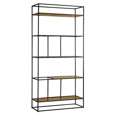 Harison Metal Display Shelf, Antique Gold