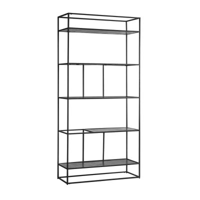 Harison Metal Display Shelf, Antique Silver