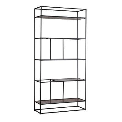 Harison Metal Display Shelf, Antique Copper