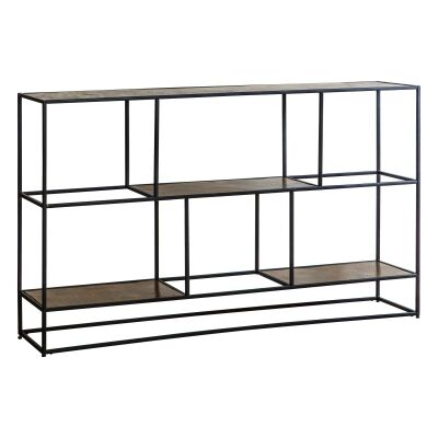 Harison Metal Sideboard Shelf, Antique Gold