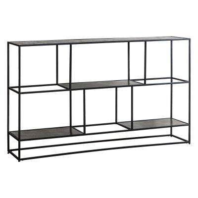 Harison Metal Sideboard Shelf, Antique Silver