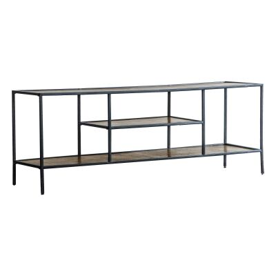 Harison Metal TV Unit, 120cm, Antique Gold