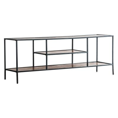 Harison Metal TV Unit, 120cm, Antique Copper
