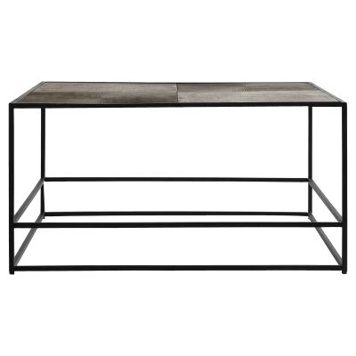 Harison Metal Square Coffee Table, Antique Gold