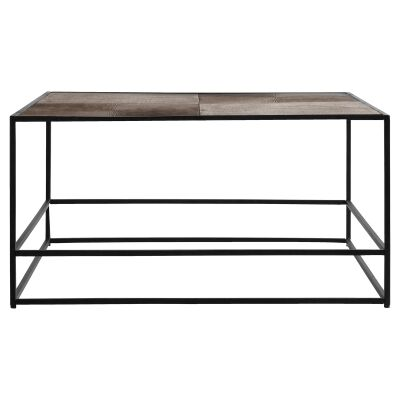 Harison Metal Square Coffee Table, Antique Copper