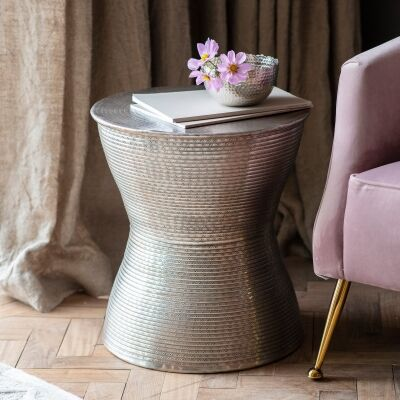 Kadim Metal Round Side Table