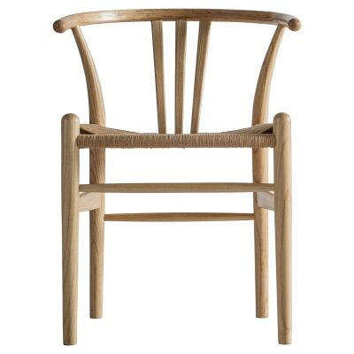 Waryn Elm Timber Dining Chair, Set of 2, Natural