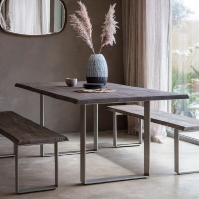 Hernox Acacia Timber & Iron Dining Table, 200cm
