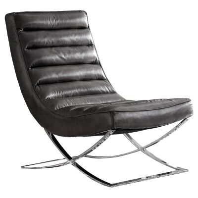 Caius Leahter Lounge Chair, Black