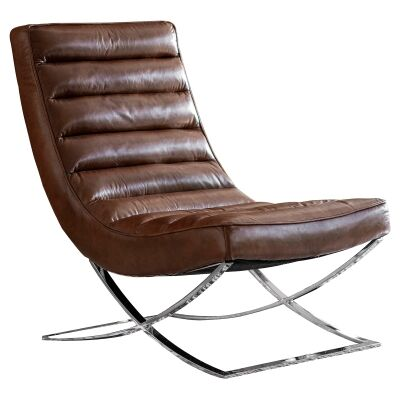 Caius Leahter Lounge Chair, Brown