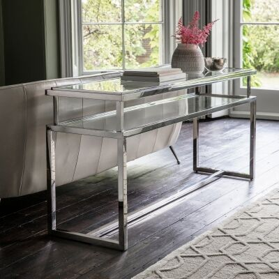 Safron Stainless Steel Console Table, 160cm