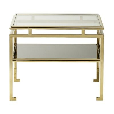 Charleton Stainless Steel Square Side Table, Large