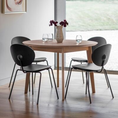 Ferham Round Dining Table, 110cm, Natural