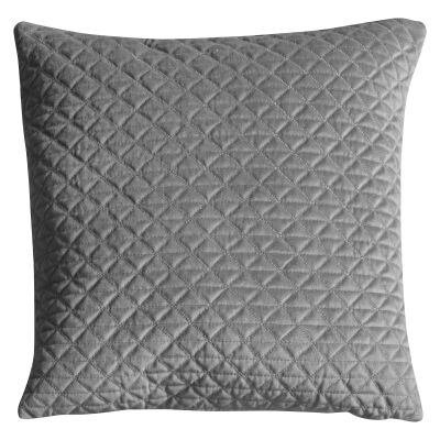 Javier Quilted Feather Filled Scatter Cushion, Silver