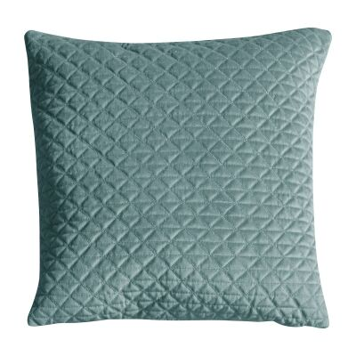 Javier Quilted Feather Filled Scatter Cushion, Duck Egg
