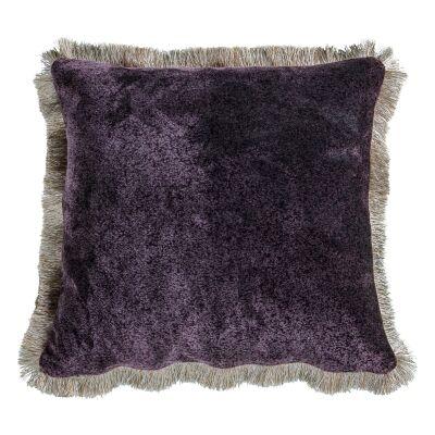 Joan Mottled Velvet Fabric Feather Filled Scatter Cushion, Ochre