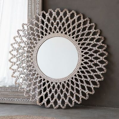 Bruno Round Wall Mirror, 120cm