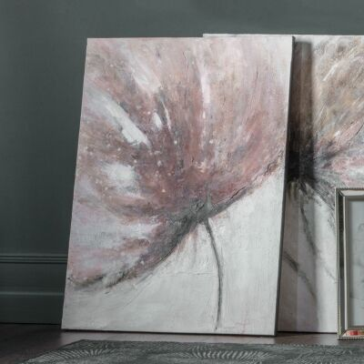 Flame Bud Hand Painted Canvas Wall Art, Left, 120cm