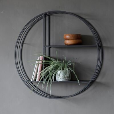 Matta Metal Round Wall Shelf
