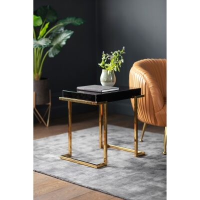 Daffey Mirrored End Table