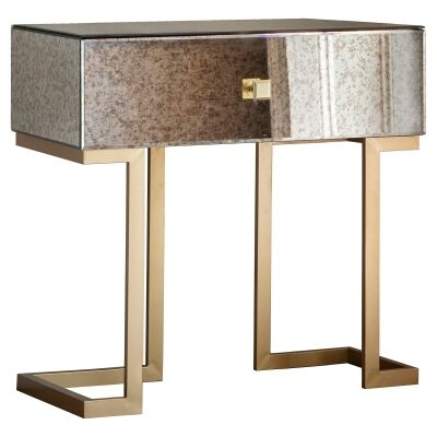 Audry Antique Mirrored End Table