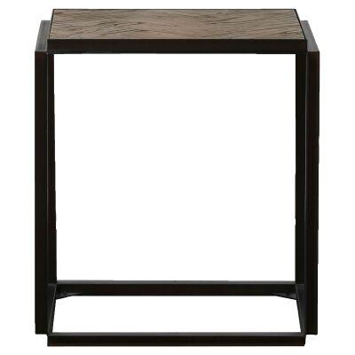 Lungro Reclaimed Elm & Metal Side Table