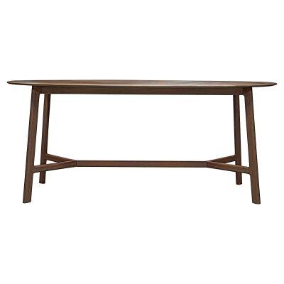 Madrid European Oak Timber Oval Dining Table, 180cm, Walnut