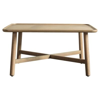 Kingham European Oak Timber Square Coffee Table, 80cm